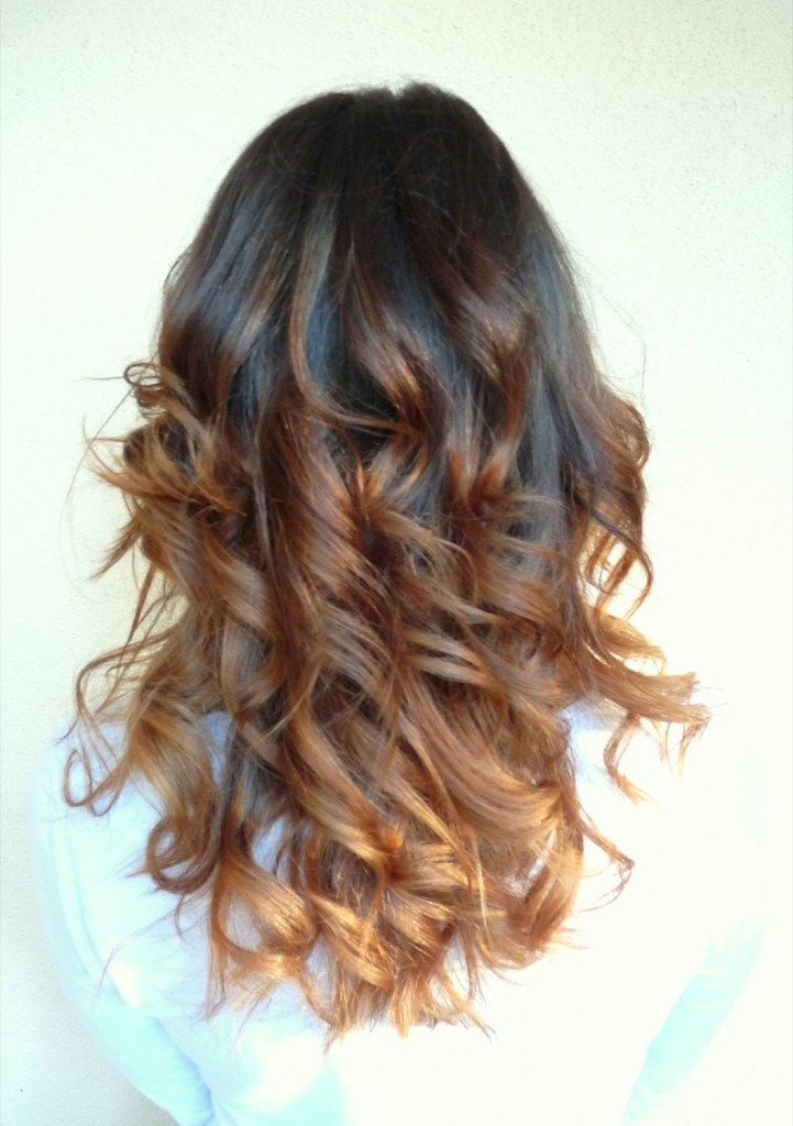 Marine tie and dye coupe ondulation au pays d 39 alice - Tie and dye caramel ...